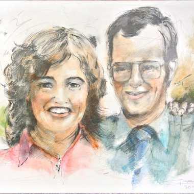 Thumbnail for Echtpaar naar foto rond 1973