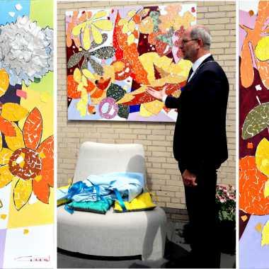 Thumbnail for Onthulling van het kunstwerk door Burgemeester van Hoogeveen, Dhr. Karel Loohuis.